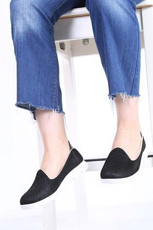 - File Ayakkabı 6003-3 Tabanı Beyaz Siyah