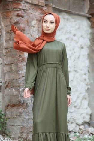 - Fırfır Detaylı Elbise 4736-04 (1)
