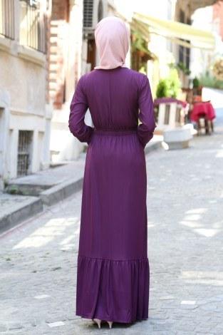 Fırfır Detaylı Elbise 4736-13 - Thumbnail
