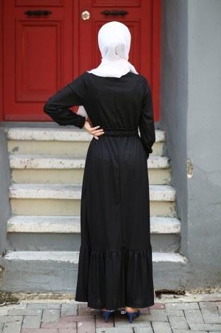 Fırfır Detaylı Elbise 4736-01 - Thumbnail