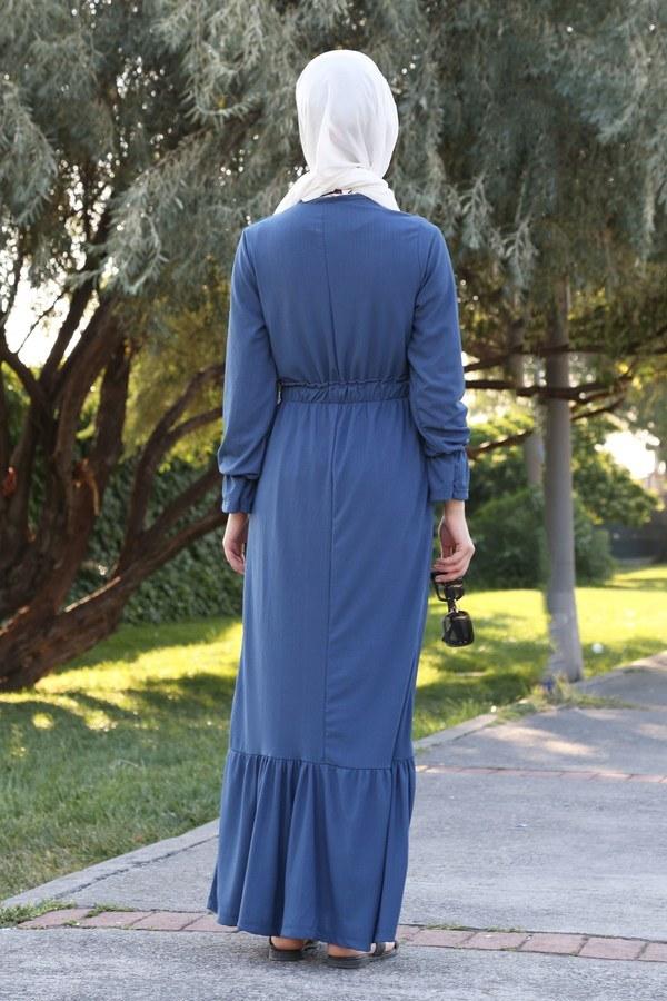 Fırfır Detaylı Elbise 4736-08