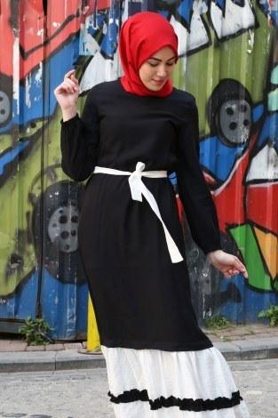 - Fırfır Detaylı Elbise 5696-01 (1)