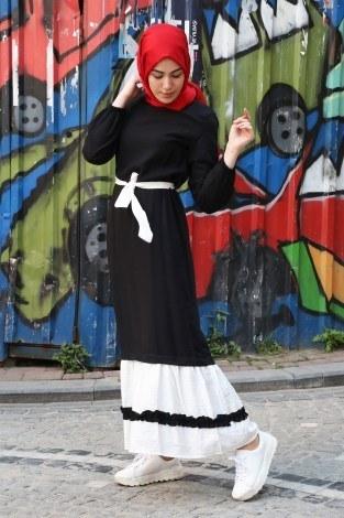 - Fırfır Detaylı Elbise 5696-01