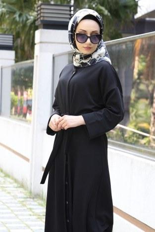 - Boydan Düğmeli Ferace Elbise 3092-01 (1)