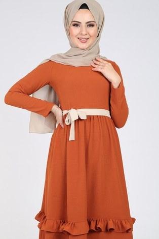 - Fırfır Detaylı Elbise 5755-1 (1)