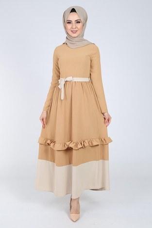- Fırfır Detaylı Elbise 5755-2