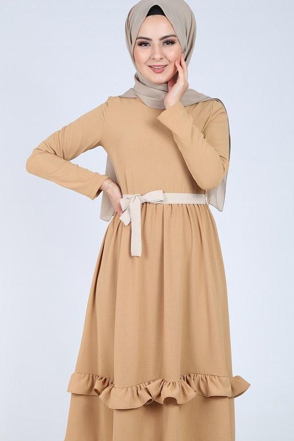 Fırfır Detaylı Elbise 5755-2