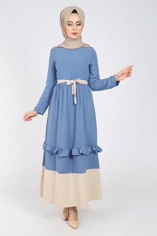 - Fırfır Detaylı Elbise 5755-3