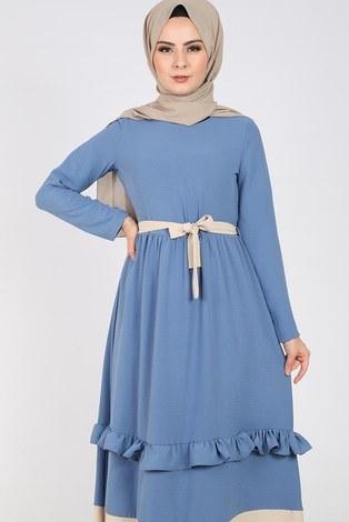 - Fırfır Detaylı Elbise 5755-3 (1)