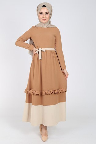 - Fırfır Detaylı Elbise 5755-4