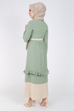 Fırfır Detaylı Elbise 5755-5 - Thumbnail