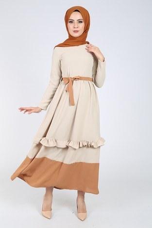 - Fırfır Detaylı Elbise 5755-6