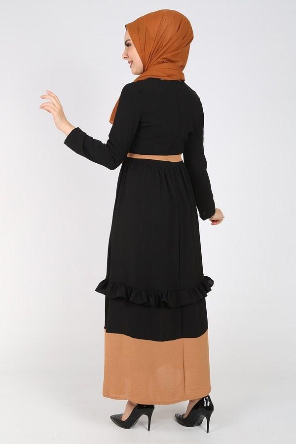 Fırfır Detaylı Elbise 5755-7