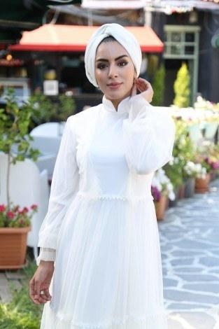 - Fırfırlı abiye elbise 83921-02 (1)