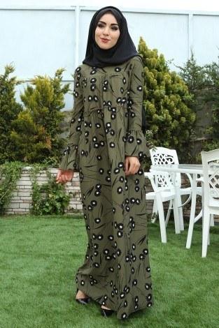- Fırfırlı Elbise 3085-25