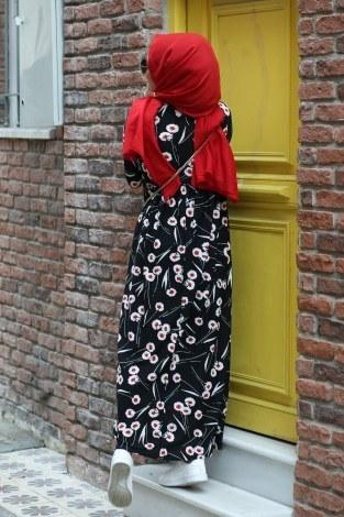 Fırfırlı Elbise 3085-26 - Thumbnail
