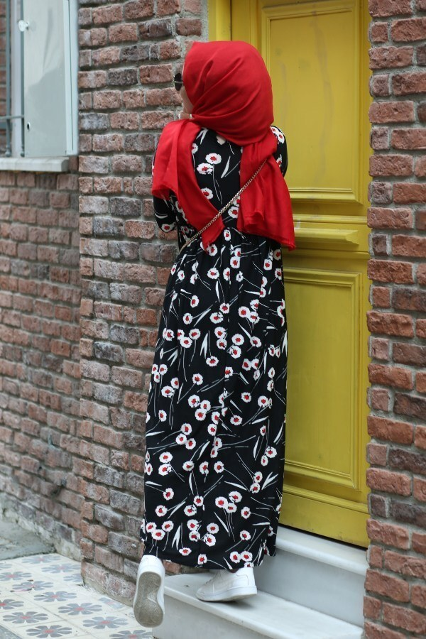 Fırfırlı Elbise 3085-26