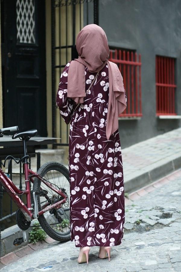 Fırfırlı Elbise 3085-27