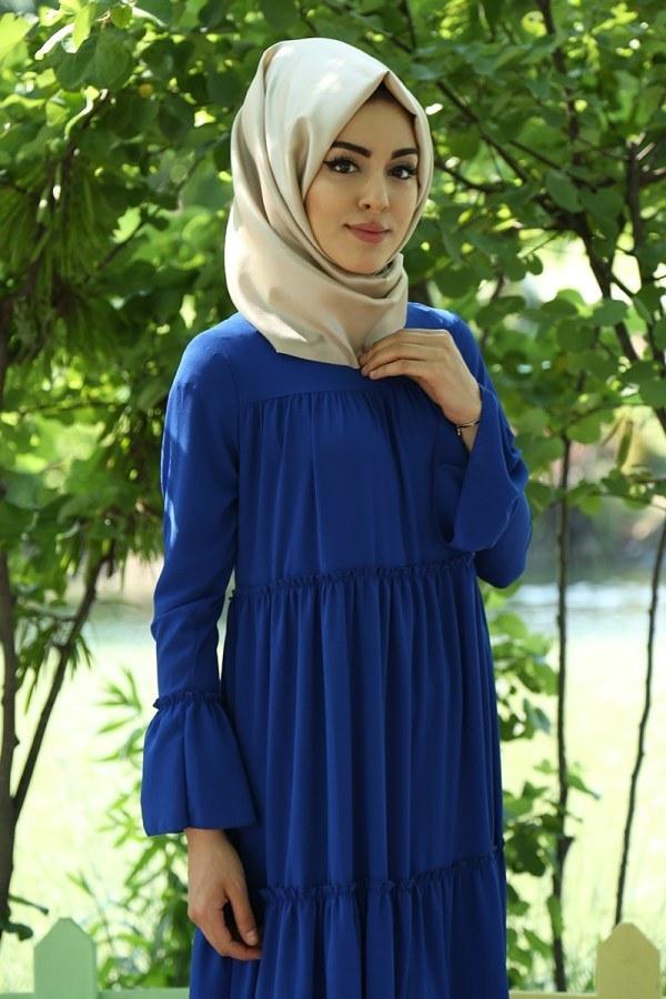 Fırfırlı Elbise 3085-36