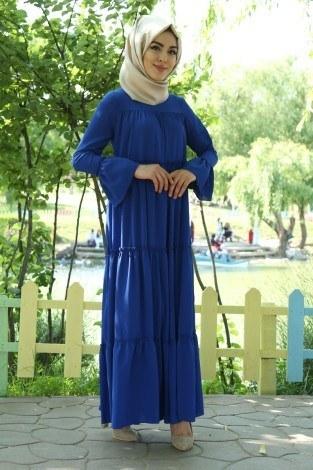 Fırfırlı Elbise 3085-36 - Thumbnail