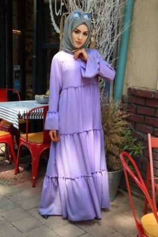 - Fırfırlı Elbise 3085-45