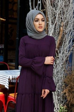 Fırfırlı Elbise 3085-42 - Thumbnail