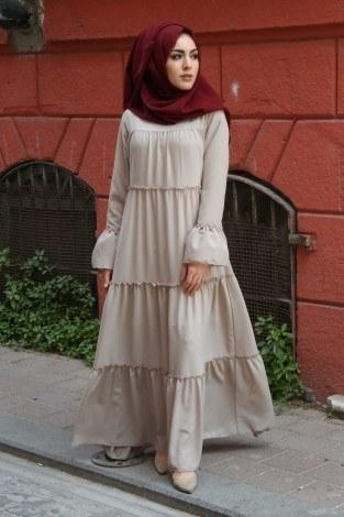 - Fırfırlı Elbise 3085-39