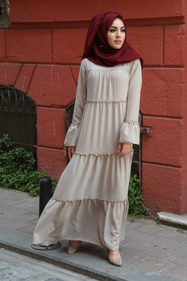 Fırfırlı Elbise 3085-39