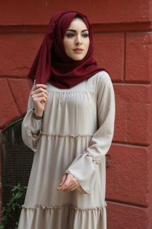 Fırfırlı Elbise 3085-39 - Thumbnail