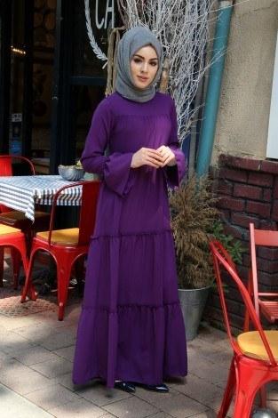 - Fırfırlı Elbise 3085-110