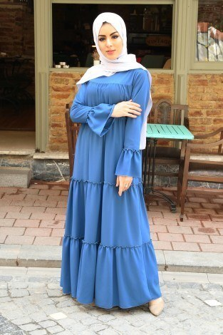 - Fırfırlı Elbise 3085-46