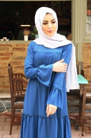 - Fırfırlı Elbise 3085-46 (1)