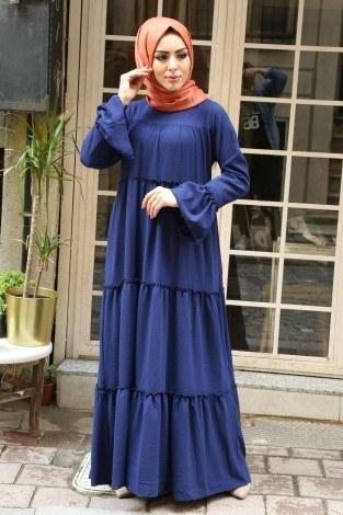 - Fırfırlı Elbise 3085-47