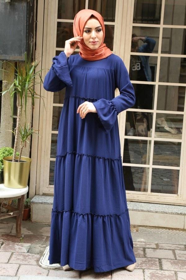 Fırfırlı Elbise 3085-47