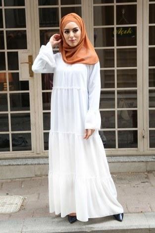 - Fırfırlı Elbise 3085-48