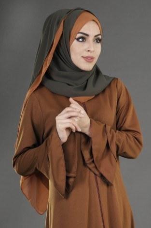 - Fırfırlı Ferace Elbise-7975-10 (1)