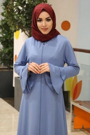 - Fırfırlı Ferace Elbise-7975-11 (1)