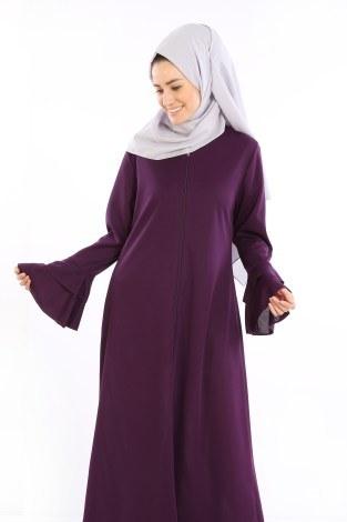 - Fırfırlı Ferace Elbise-7975-8 (1)