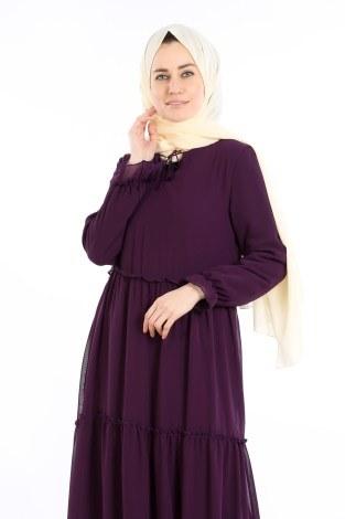 - Fırfırlı Şifon Elbise 5241-07 (1)