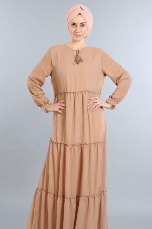 - Fırfırlı Şifon Elbise 5241-04 (1)