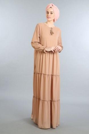 - Fırfırlı Şifon Elbise 5241-04