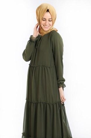 - Fırfırlı Şifon Elbise 5241-06 (1)