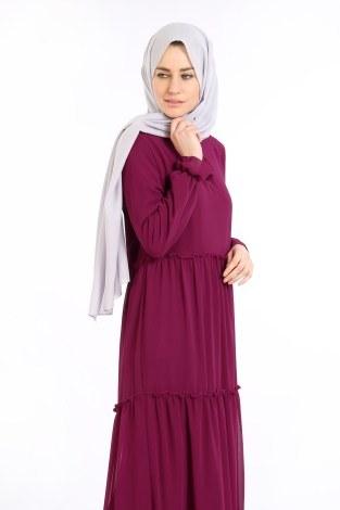 - Fırfırlı Şifon Elbise 5241-05 (1)