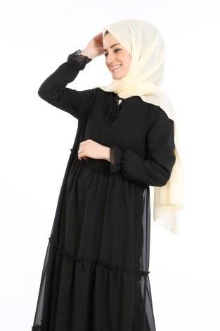 - Fırfırlı Şifon Elbise 5241-01 (1)