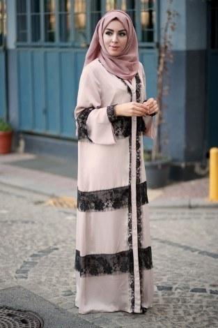 - Elif Nur Dantelli Abaya Ferace 8995-01