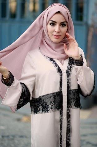 - Elif Nur Dantelli Abaya Ferace 8995-01 (1)
