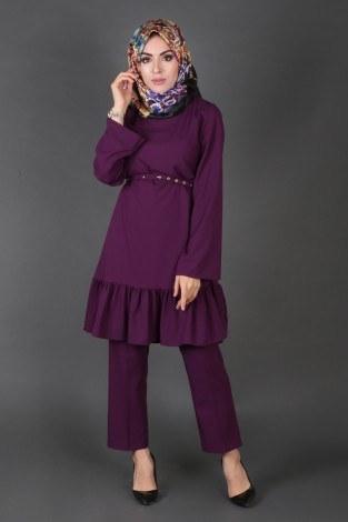 - Fırfırlı Tunik Pantolon Takım 97110-3