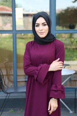 - Fırfırlı ve Volenli Elbise 8922-2 (1)
