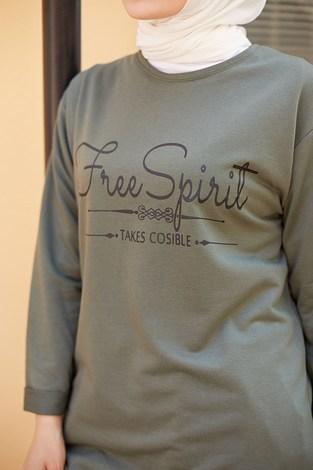 - Free Spirit Sweat-Tunik 9792-7 Haki (1)