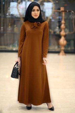 Fularlı Elbise MPR4465-11 - Thumbnail